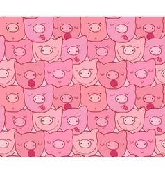 The pattern of the muzzles of piglets vector image