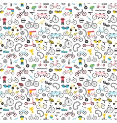 Bicycle seamless pattern Colour flat design vector image