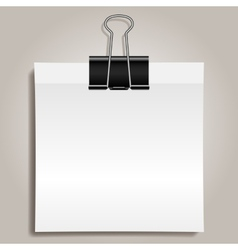 Binder clip and paper vector image vector image
