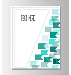 brochure template turquoise flags vector image vector image