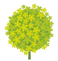 Concept abstract green tree blossom vector
