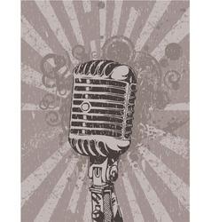 Concert wallpaper with microphone vector
