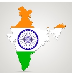 Creative pixel india map vector