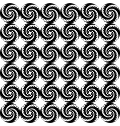 Design seamless monochrome helix geometric pattern vector