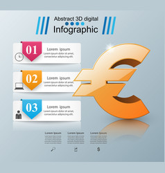 euro icon business infographics vector image