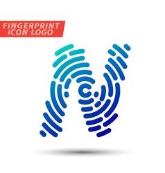 Fingerprint logo font 13 vector