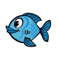 fish cartoon icon vector image vector image