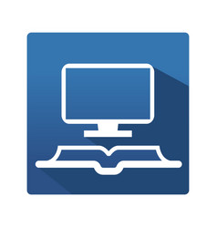 Learning and education icon vector