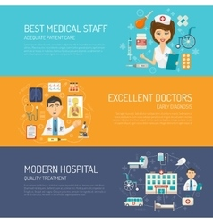 Medical banner set vector
