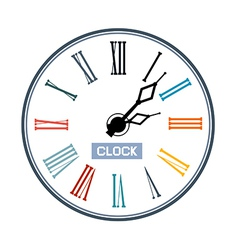 Retro Abstract Clock Face vector image