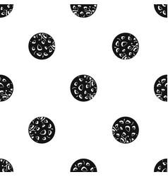 Rocky planet pattern seamless black vector