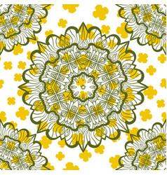 Seamless mandala stylized warping paper pattern vector
