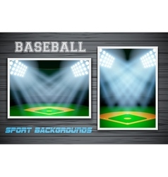 Set backgrounds of baseball stadium vector