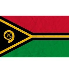 Vanuatu paper flag vector