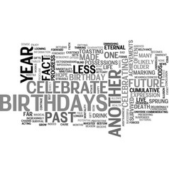 Why do we celebrate birthdays text word cloud vector