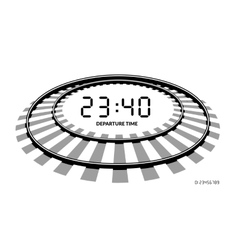 Railway clocks vector