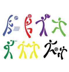 sport disciplines vector image