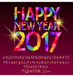 Patch sparkling happy new year 2017 greeting card vector