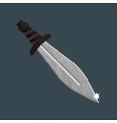 Knife dagger weapon vector
