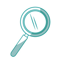 Isolated magnifying glass vector