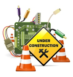 Under construction concept with sign vector