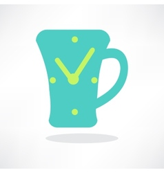 Simplistic coffee cup icon vector