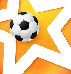 Soccer football poster bright orange background vector