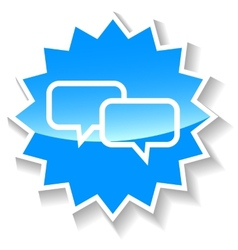 Dialog blue icon vector