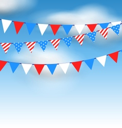 Hanging bunting pennants vector