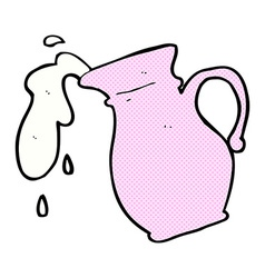 Comic cartoon milk jug vector