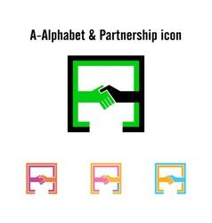 Creative a-letter icon abstract logo design vector