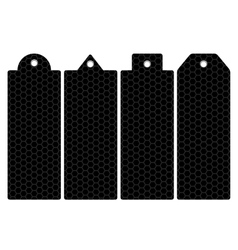 Price tag label honeycomb iron mesh vector