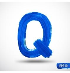 Alphabet letter q watercolor alphabet vector