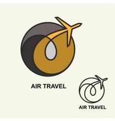 Aviation logo emblem template air travel vector image