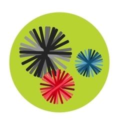 Bacteria virus icon vector