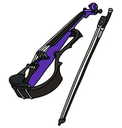 Blue electric violin vector
