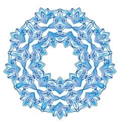 Blue snowflakes vector