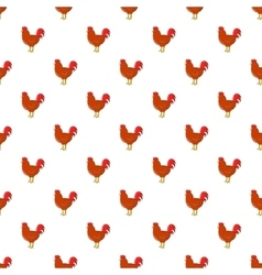 Chicken pattern cartoon style vector