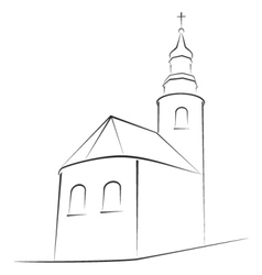 church symbol vector image