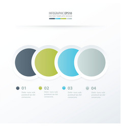 Circle overlap infographic green blue gray color vector