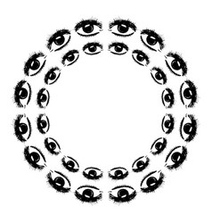 circular pattern of the eye vector image vector image