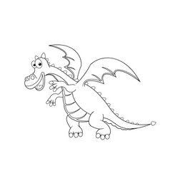 contour of the dragon vector image