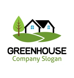 Green House Design vector image vector image