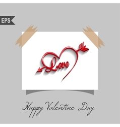 happy valentines day cards with heart on vector image vector image