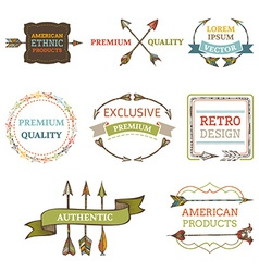 logo templates with arrows vector image
