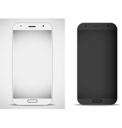 Modern smartphones mockup layout vector image