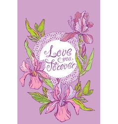 orchid card 380 vector image vector image