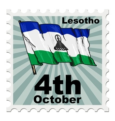 Post stamp of national day of lesotho vector