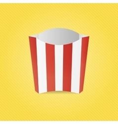 Realistic French Fries Paper Box vector image vector image