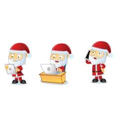 Santa 3 vector image vector image
